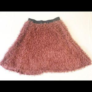 "lularoe Fringed solid ""Jill"" Cute Skirt size L"